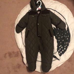 Infant boys snowsuit/onesie